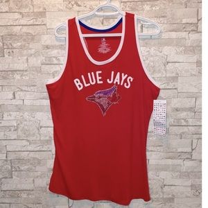 NWT MLB Blue Jays Tank with Crystals Detailing